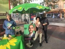 Wahlkampfstand in Buchholz-Kleefeld