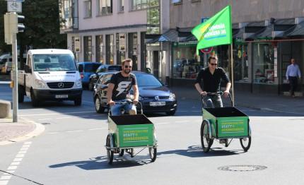 Grüne Lastenräder